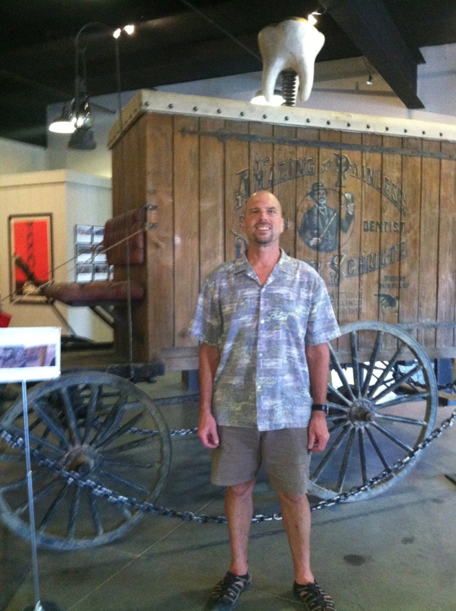 The dentist wagon from Django Unchained, on display at the Lone Pine Film Museum.