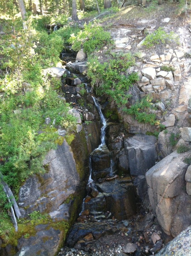 There were several little water falls feeding into the creek with no name.