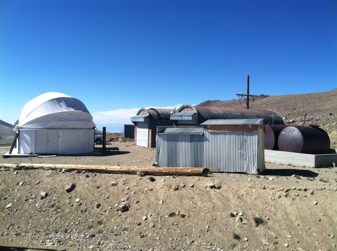 Some of the buildings at the research station.