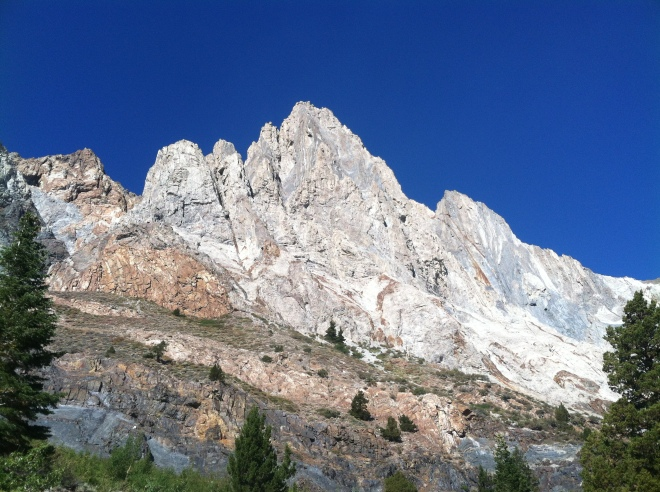 Hiking up Convict Canyon. We will return to see the fall colors and to go all the way to Lake Dorothy.