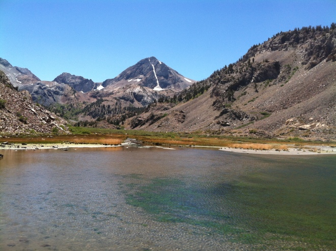 Mildred Lake with Red Slate Mountain in the background.