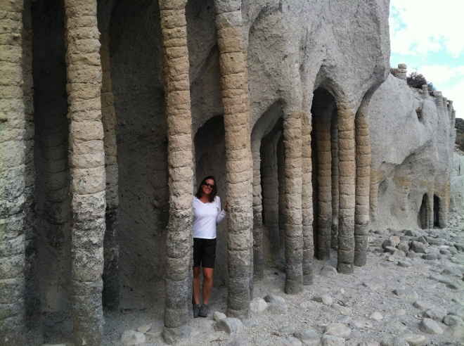 The columns of Crowley Lake.  Some crazy freaky shit.