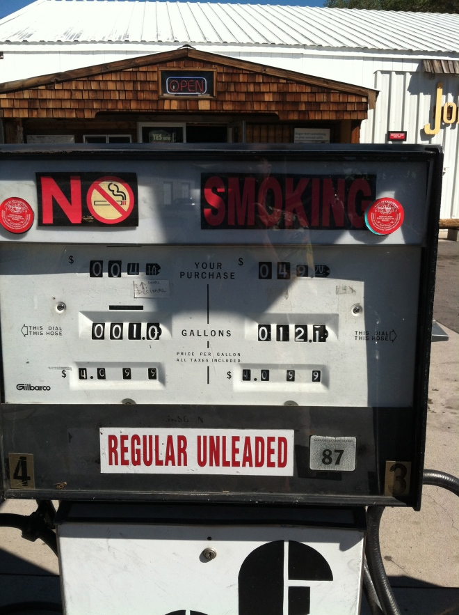 When's the last time you got gas out of a pump like this?  Johnstonville, Ca.