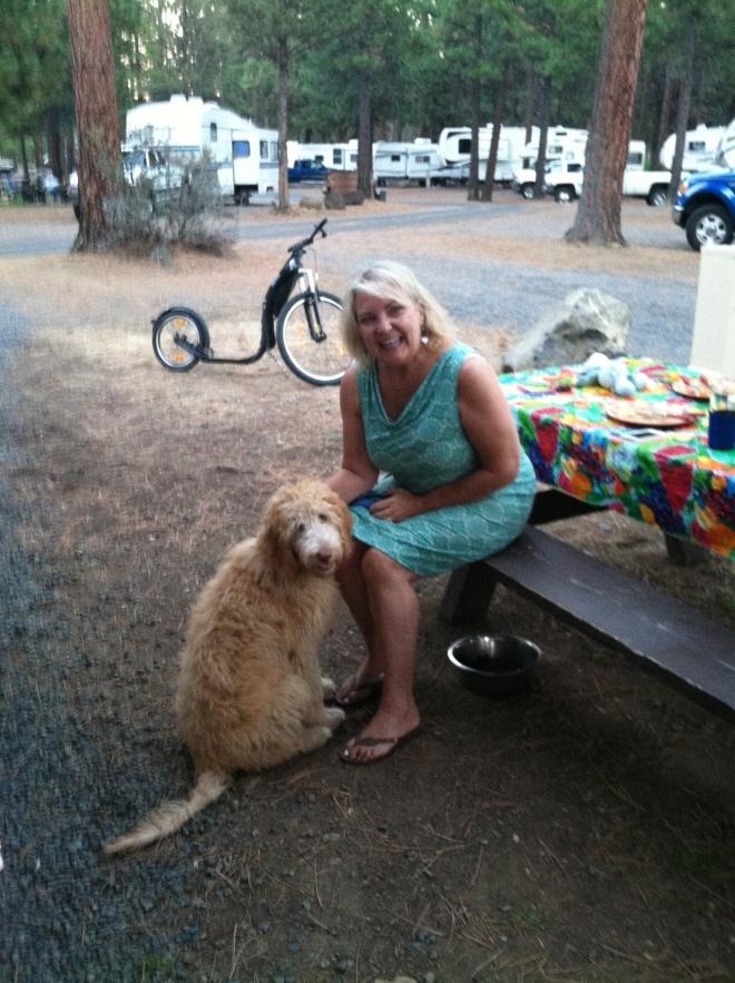 Doña Doña and her pup Josey.