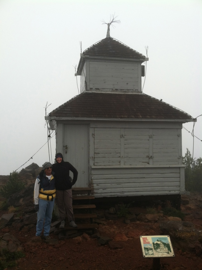 R and Amelia at the old look out tower on top of Black Butte.