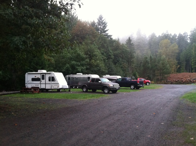 Camp Yale.  Very odd campground.  Just our three trailers and a crazy Seventh Day Adventist.