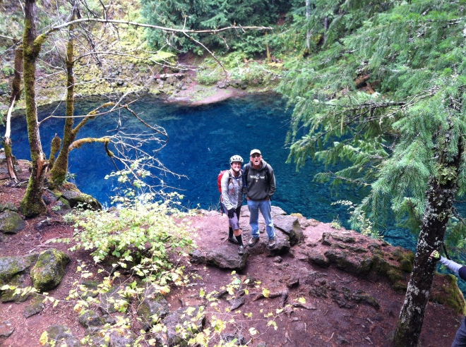 The blue hole along the McKenzie river trail.
