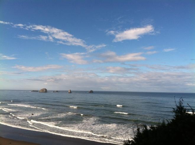 Along the Oregon coast.
