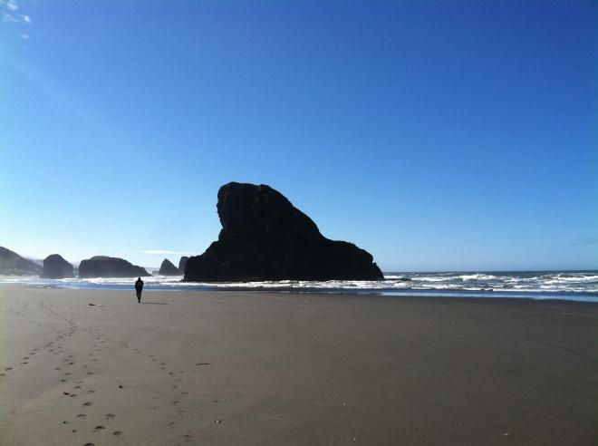 Lovely walk on the beach.