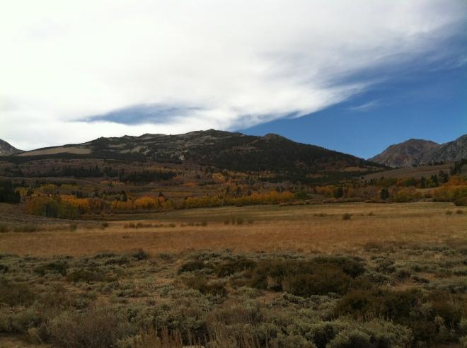 Green Creek Road heading towards Virginia Lakes, October 7th
