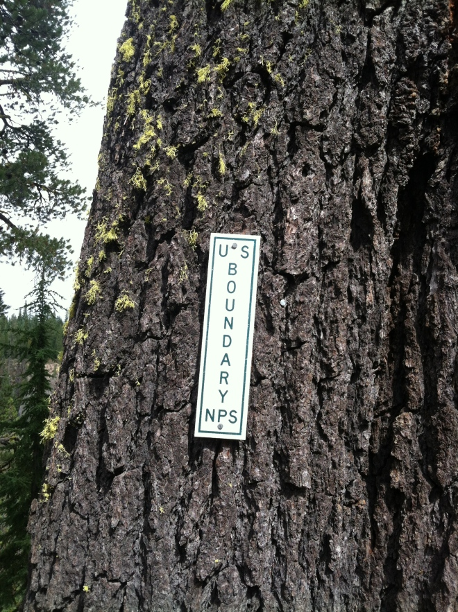 Oregon is big on just hammering signs into trees. Same area as the two previous photos.
