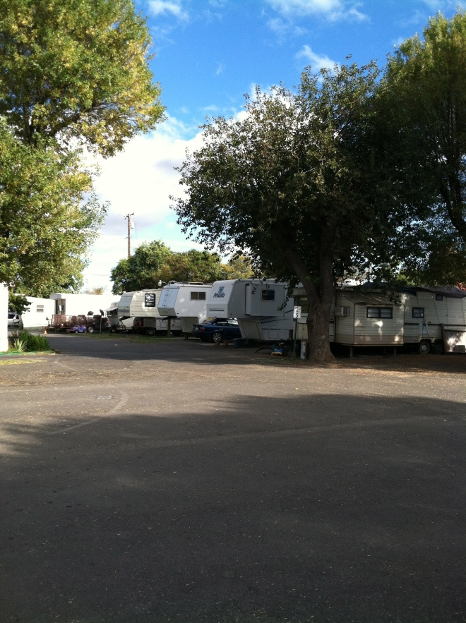 Not vacationers, but folks living in their trailers.