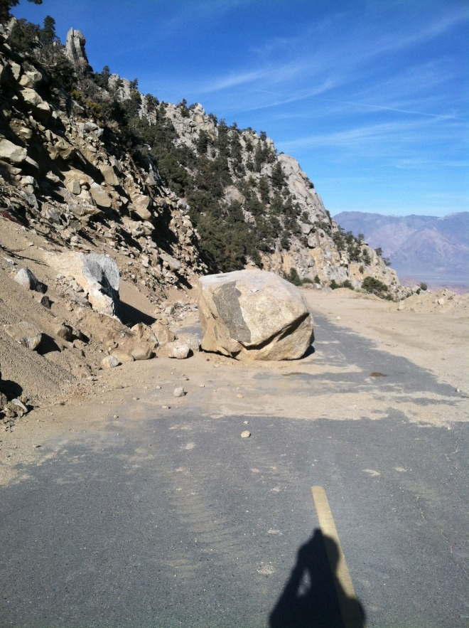 No wonder the road to Whitney Portal was closed, that is unless you have a single speed!
