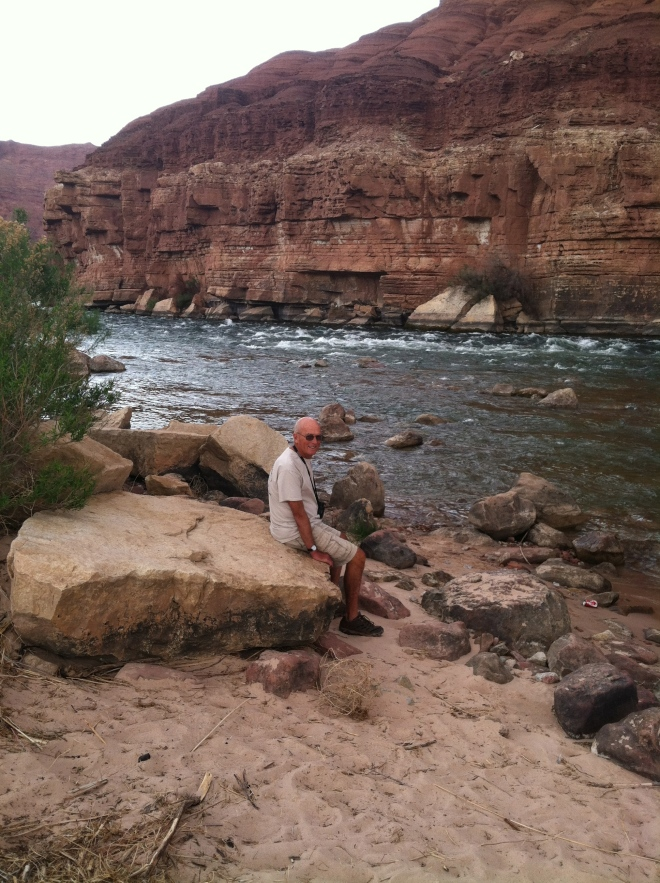 R along the banks of the Colorado River.