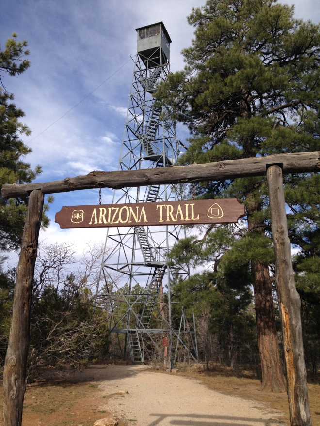 We boon docked right next to the Arizona Trail and the Grandview Lookout Tower. The trail is a sweet single track that stretches from the Utah border all the way to Mexico. In my younger days I use to romanticize about manning a lookout tower.