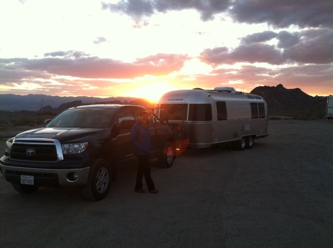 Nine hours after departing Mammoth we arrived at our overnight boon dock spot a few miles north of Lake Havasu City.