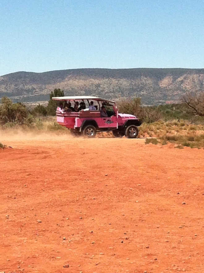 If we ever see another pink jeep it will be too soon. These things are crawling all over Sedona.