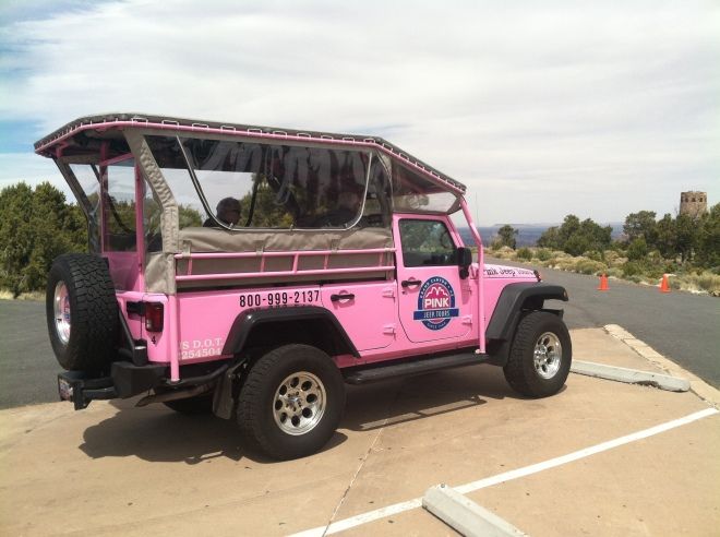 Too soon! Just when we thought we escaped the invasion of the pink jeeps...