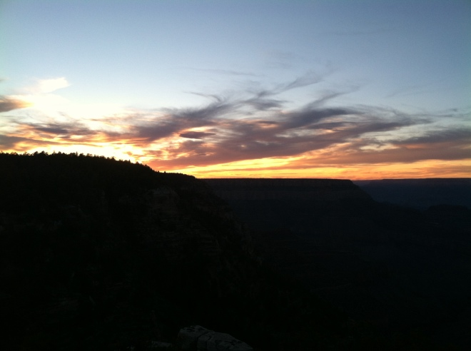 Sunset over the Grand Canyon.
