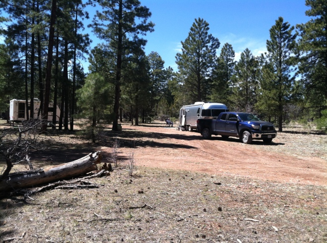 Camp Kaibab, a nice sunny spot for our solar panel.