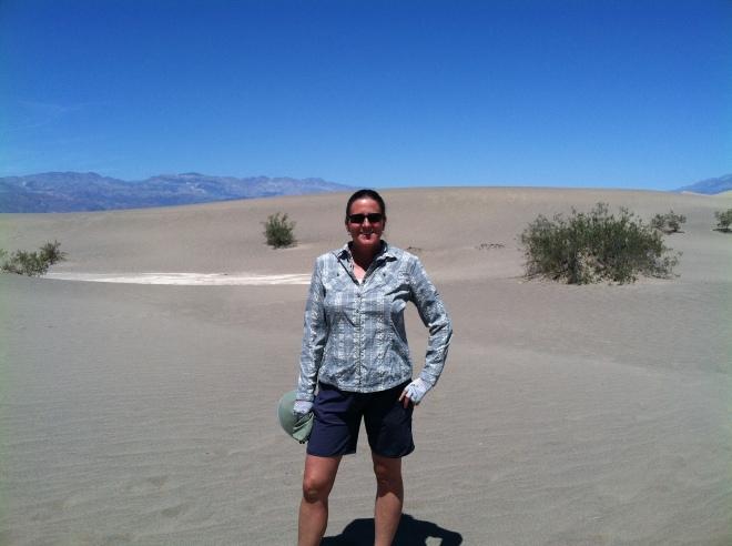 Amelia loves sand dunes.