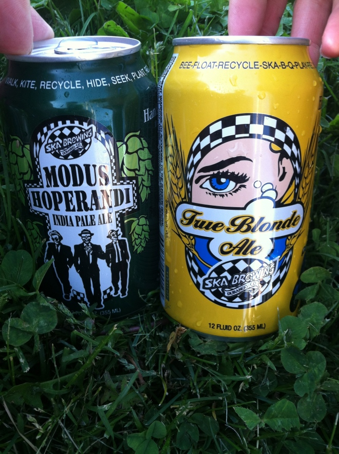 A couple of fine beverages from Ska. 2 for $5. What a deal.