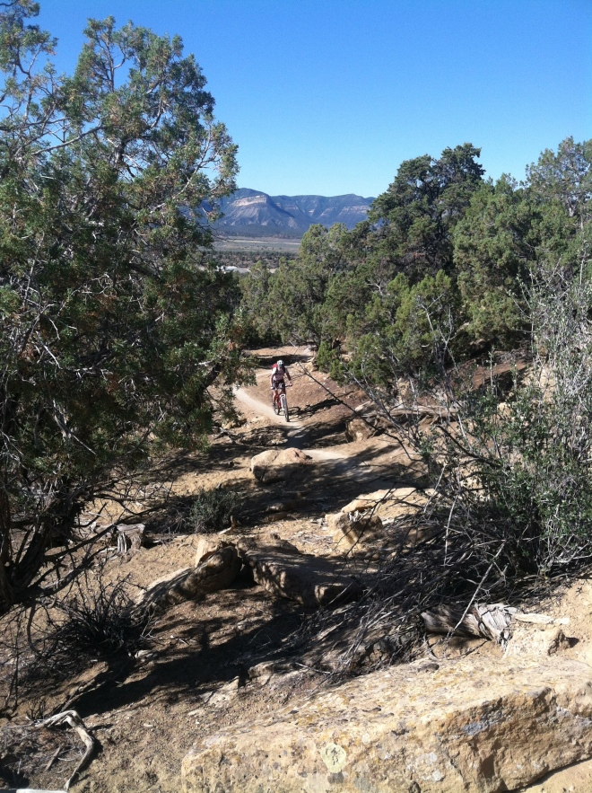 Uphill stretch at Phil's World. We love this kind of scenery, terrain, and wide open space.