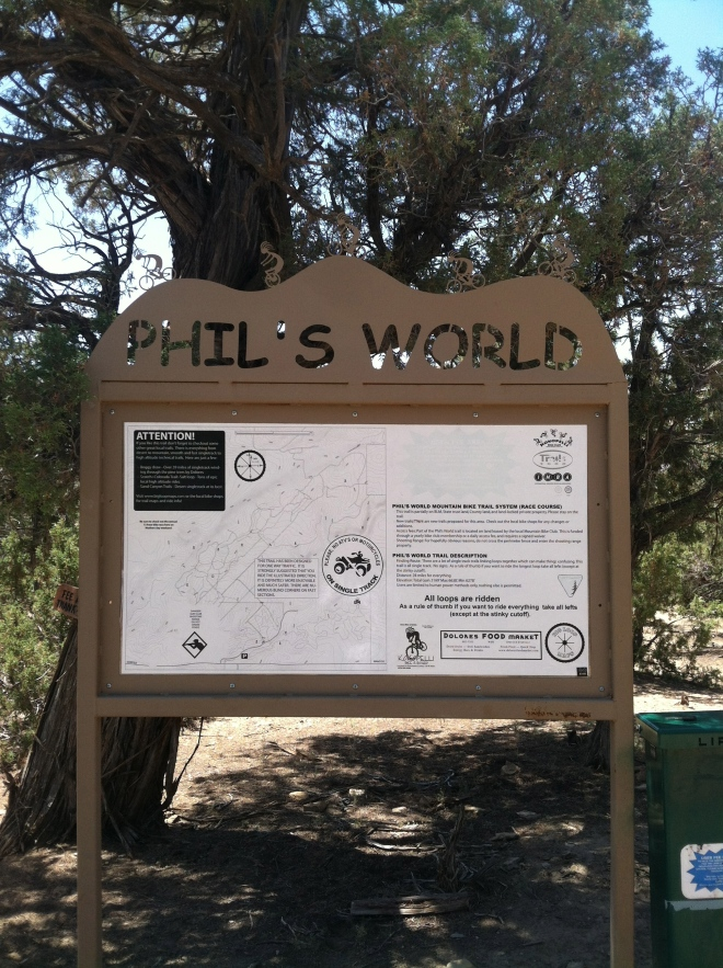 Phil's World. The reason we backtracked to Cortez. Boy was it worth it, what a great ride.