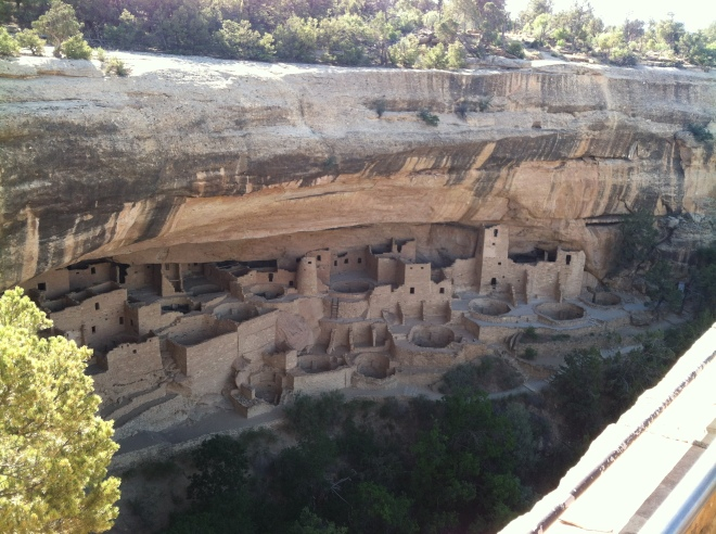 Mesa Verde National Park wasn't on anyone's agenda. We are really glad we went. It's the fifth oldest national park. This is Cliff Palace. It almost looked like a miniature movie set until you were up close.
