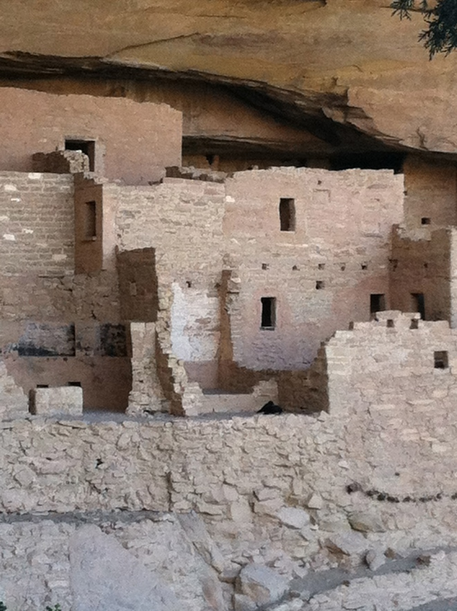 Up close at Cliff Palace. They estimate the Ancestral Pueblo people lived here from 1200-1290.
