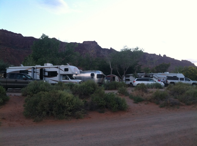"""They have 'em stacked in like cord wood here,"" said Greg repeatedly as the campground filled up every evening."