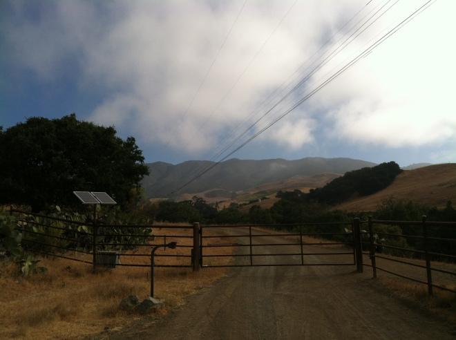 The start of West Cuesta Ridge ride.