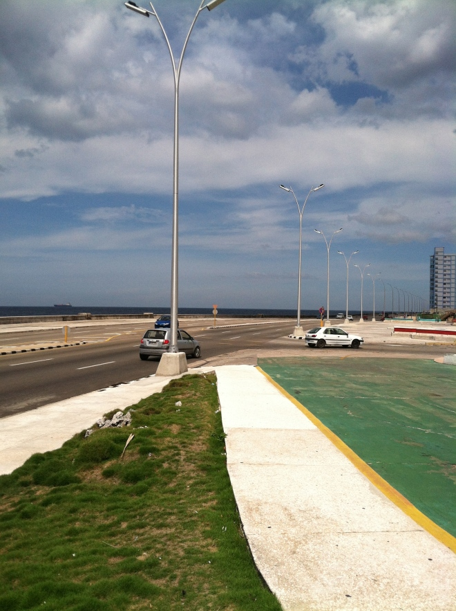 The Melecon, the road that runs along the water in Havana.