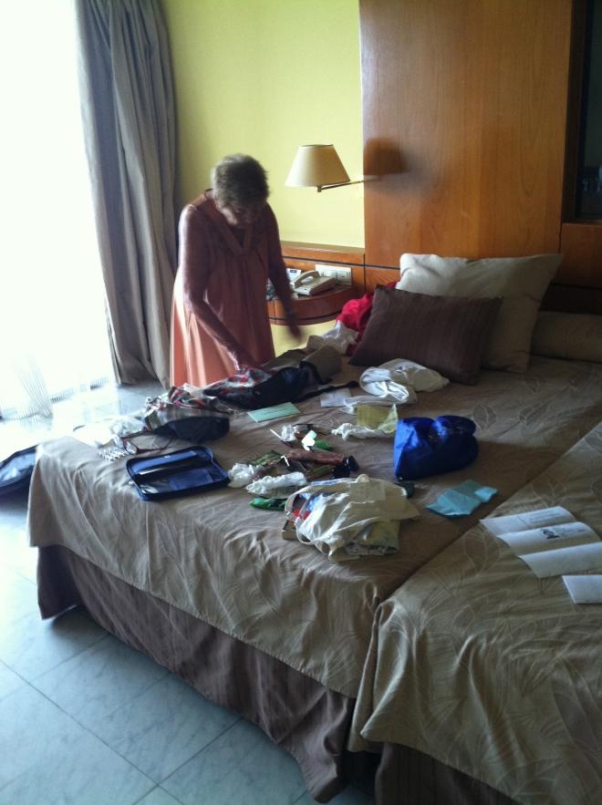 Ruth, looking for her passport in Havana.