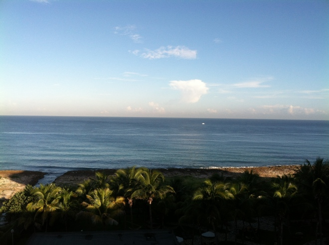 View from the balcony of our room at Melia Havana Hotel. Melia is a Spanish company doing a joint venture with the Cuban government.