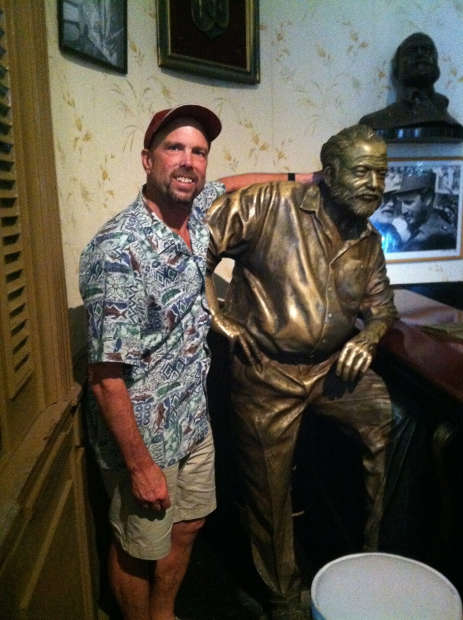 Ernie and I at his favorite bar the Floridita.