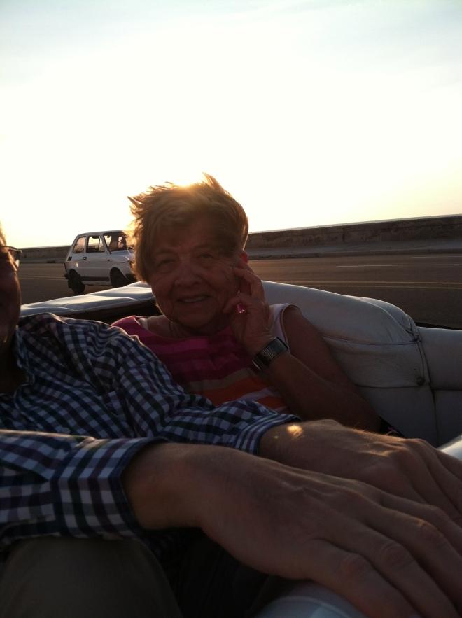 Great shot, cruising the Melecon, top down, sun setting.