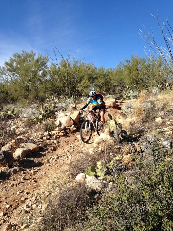 Amelia cruising the 50-year trail.
