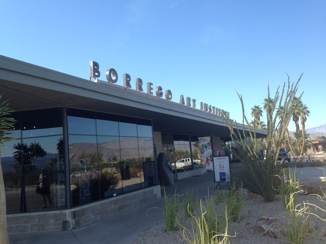 Borrego Art Institute, definitely worth a visit. They did a wonderful job gutting and remodeling this old grocery store.