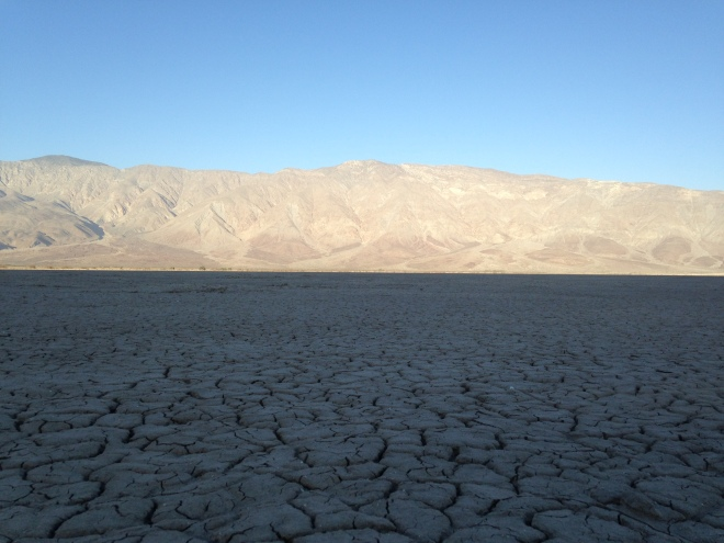 Clark Dry Lake. It is a real trip walking on the lake bed.