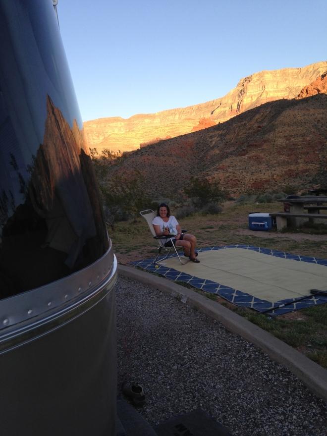 Evening in the desert.
