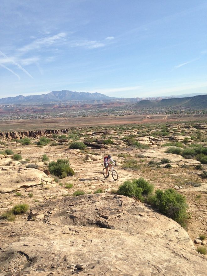 The climb on The Zen Trail. As you can tell, all the riding looks the same in the St. George area. It's a nice warm up for Hurricane.