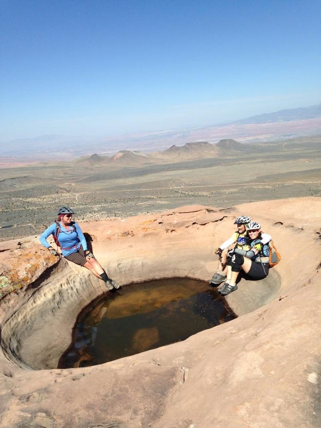 Secret tub at Little Creek Mesa.
