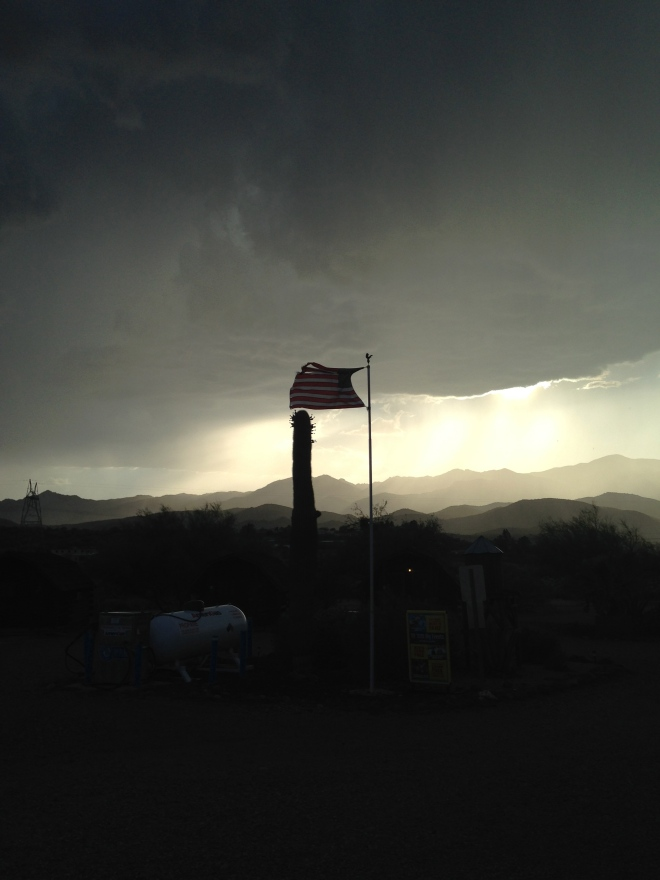 While blogging the crazy weather hit the campground.