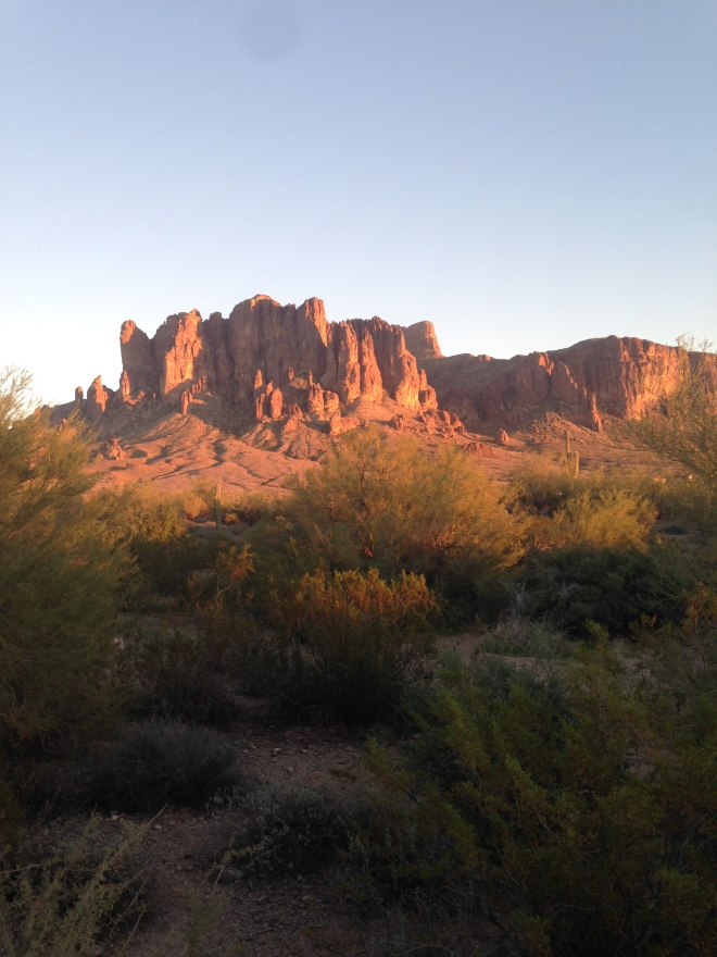 The Superstition Mountains. There's gold in them there mountains.