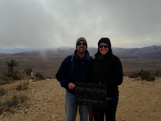 As it seems to be the norm nowadays, the weather ran the gamut. On the day we hiked to the summit of Ryan Mountain it was 30-40 mph winds, cold, and cloudy.